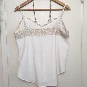 GAP Tops - GAP cream lace camisole - high quality